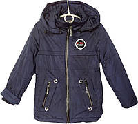 """Куртка детская демисезонная """"NTS Team"""" #GP-57 для мальчиков. 5-6-7-8-9 лет. Темно-синяя. Оптом., фото 1"""