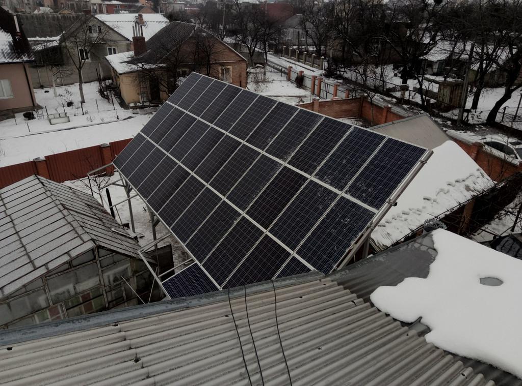 Сетевая солнечная электростанция 19,1 кВт и автономная солнечная электростанция 5 кВт г. Луцк Волынская область