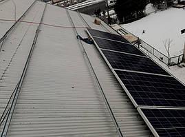 Установка фотомодулей JA SOLAR JAP6 60-265 на крышу