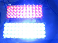 Стробоскопы в решетку авто Led 2-44 красно/синие 12-24В. https://gv-auto.com.ua, фото 1
