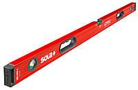 Уровень строительный Sola BigRed3_240 240см, 3 колбы, с ручками, эпоксидная поверхность