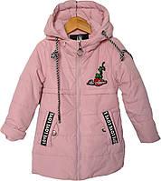 """Куртка детская демисезонная """"Amour"""" #8750 для девочек. 2-3-4-5-6 лет. Лосось. Оптом., фото 1"""