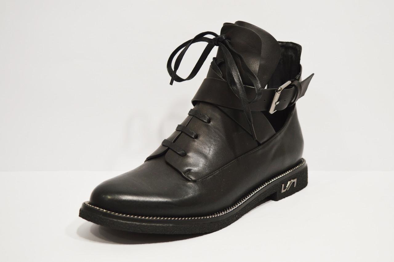 Ботинки кожаные с ремешками Fabio Monelli 74-7151