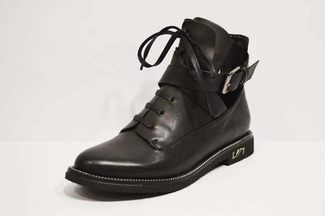 Ботинки кожаные с ремешками Fabio Monelli 74-7151, фото 2