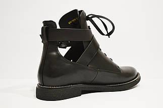 Ботинки кожаные с ремешками Fabio Monelli 74-7151, фото 3