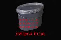 Пластиковое ведро пищевое 5,6 л овал с металлической ручкой и крышкой