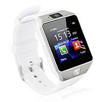 Часы Smart Watch Phone DZ09 цвет белый  с Камерой!