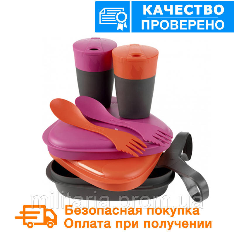 Набор туристической посуды Light My Fire Pack n Eat Kit   Fuchsia/Orange 50689340 , фото 1