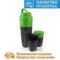 Набір туристичного посуду Light My Fire Pack n Eat Kit зелено / чорний