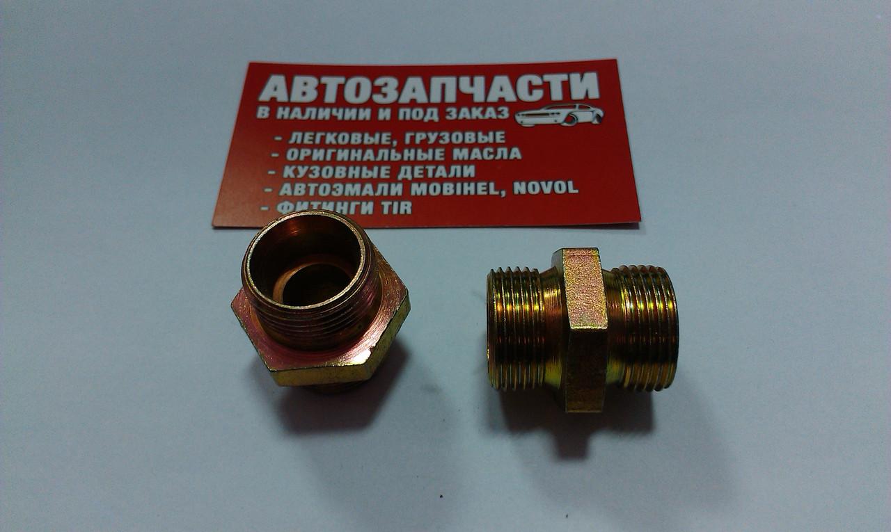 Соединитель резьбовойМ22х1.5под трубку пластиковую ключ на 27