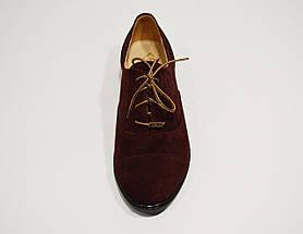 Туфли бордовые замшевые Kento 1005, фото 3
