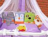 """Постельный комплект для новорожденного """"Винни и его друзья"""" ТМ Куписон 6-ть бортиков+простынка"""