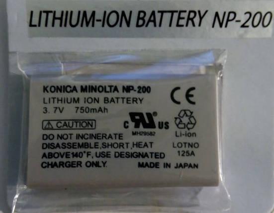 Акумуляторна батарея KONICA MINOLITA NP-200, фото 2