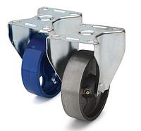 Колеса термостойкие из чугуна диаметр 100 мм с неповоротным кронштейном. Серия 72