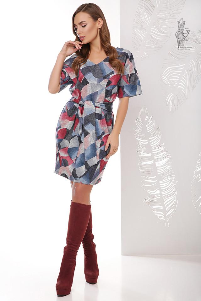 Цвет-1 Трикотажного женского платья Шанель Колори