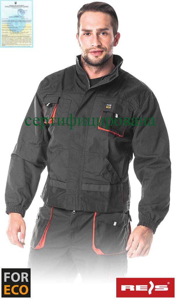 Куртка рабочая прочная Foreco мужская серая REIS Польша (униформа рабочая спецодежда) FORECO-J SBP
