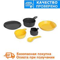 Туристический набор посуды Wildo EXPLORER KIT - LEMON / DARK GREY (67233)