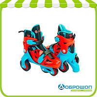 Роликовые коньки раздвижные детские YX-0147N-BL
