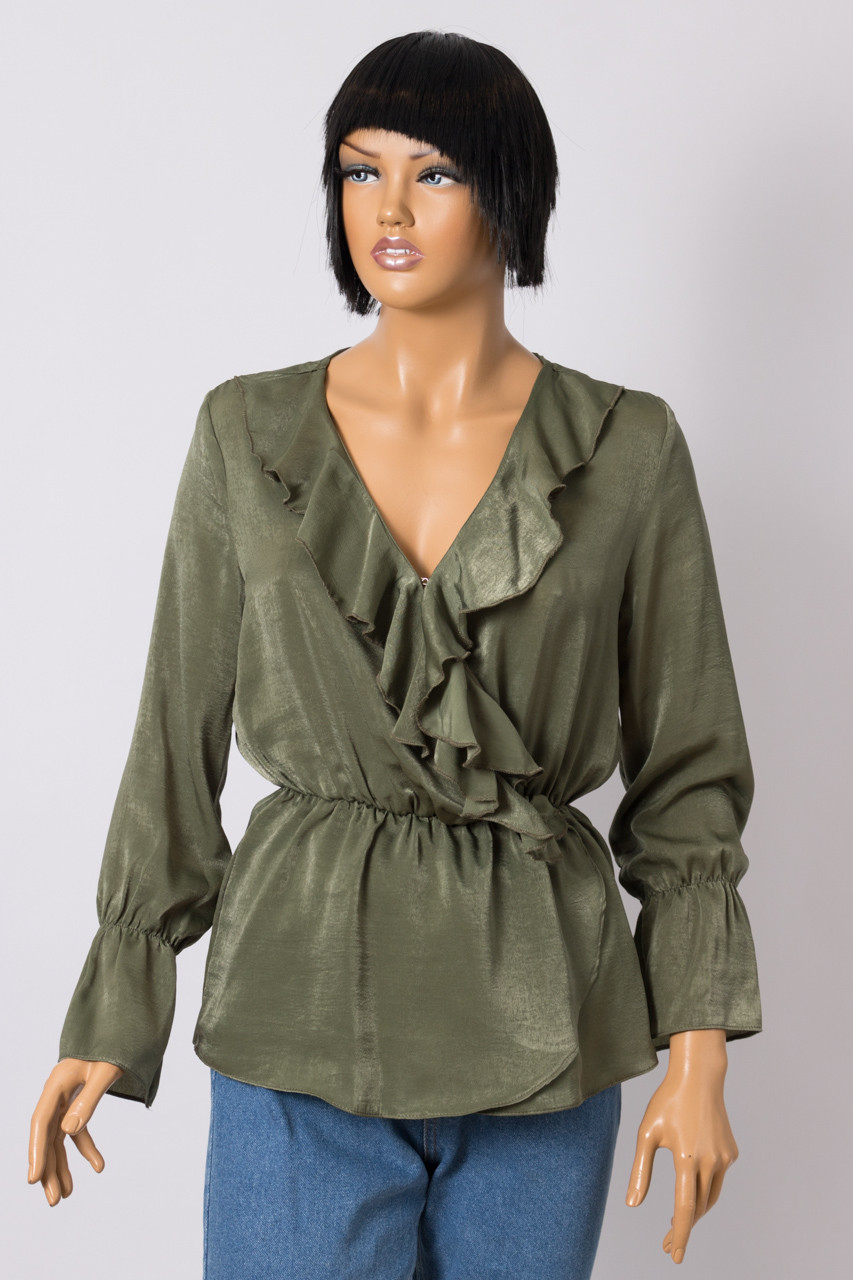 Блуза женская BSL 9957 EMU MILIA HAKI