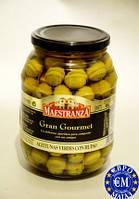 Оливки з кісточкою Maestranza Gran Gourmet Aceitunas Verdes Con Hueso 950 г Іспанія