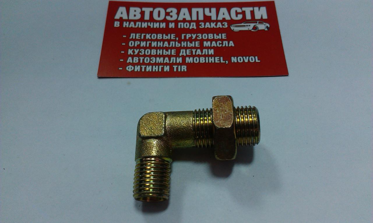 Угольник резьбовойМ14х1.5 - М16.1.5под пластиковую трубку (с гайкой) пр-воТурция