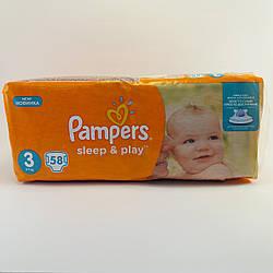 Детские подгузники Pampers Sleep & Play Midi 3, 5-9 кг 58шт