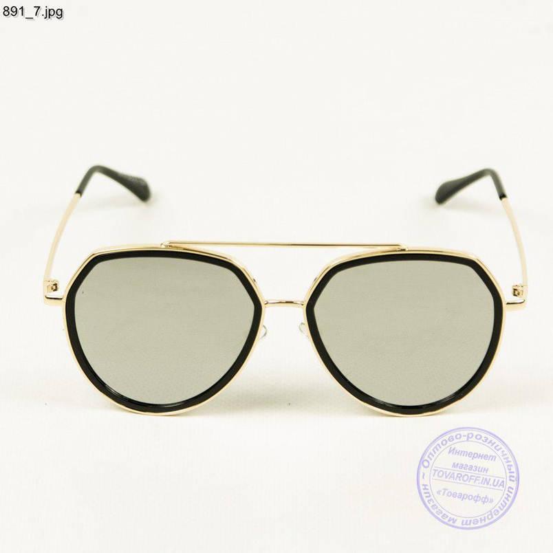 Оптом сонцезахисні окуляри унісекс дзеркальні - 891/3, фото 2