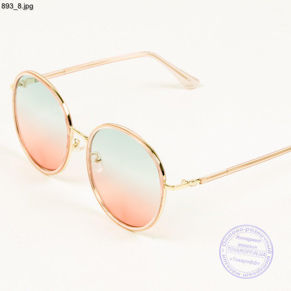 Оптом женские солнцезащитные очки с цветной линзой - 893/2
