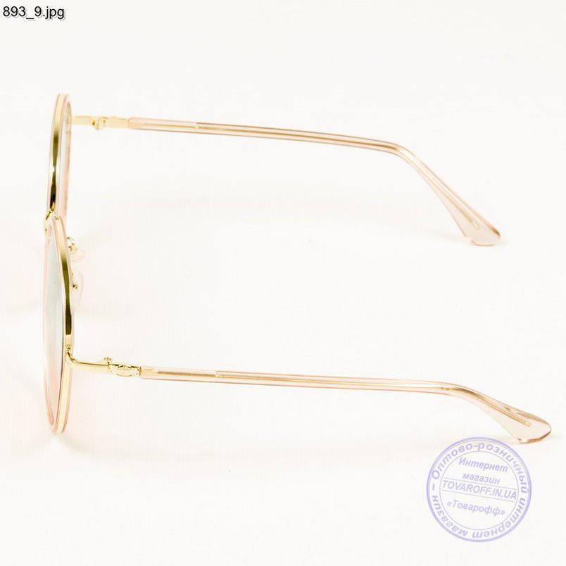 Оптом женские солнцезащитные очки с цветной линзой - 893/2, фото 2