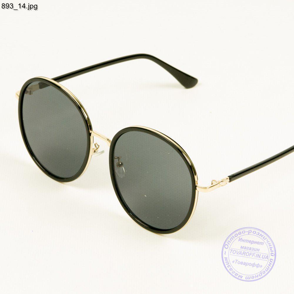 Оптом сонцезахисні окуляри унісекс чорні - 893/4