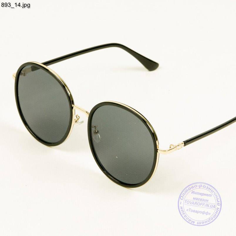 Оптом сонцезахисні окуляри унісекс чорні - 893/4, фото 2