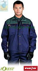 Куртка рабочая комфортная мужская темно-синяя REIS Польша (спецодежда  для строительных работ) BF GZ