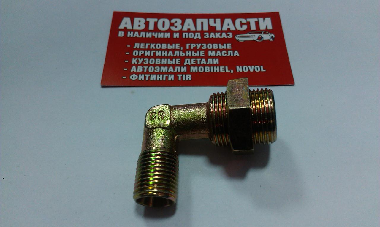 Угольник резьбовой под пластиковую трубку М16х1.5 - М22.1.5 (с гайкой)