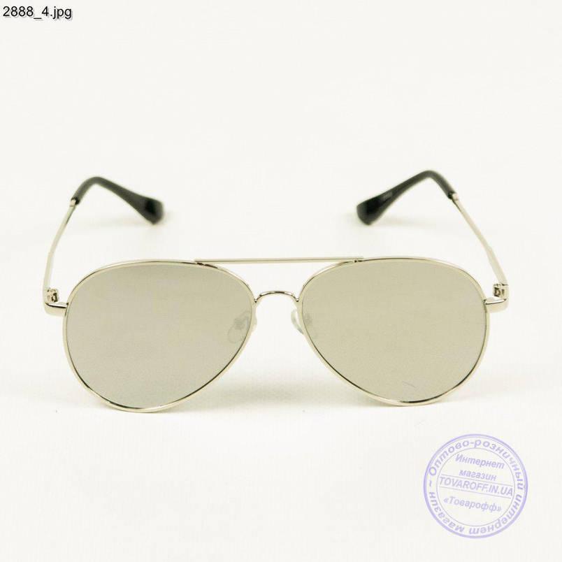 Оптом дзеркальні сонцезахисні окуляри авіатор - 2888/1, фото 2