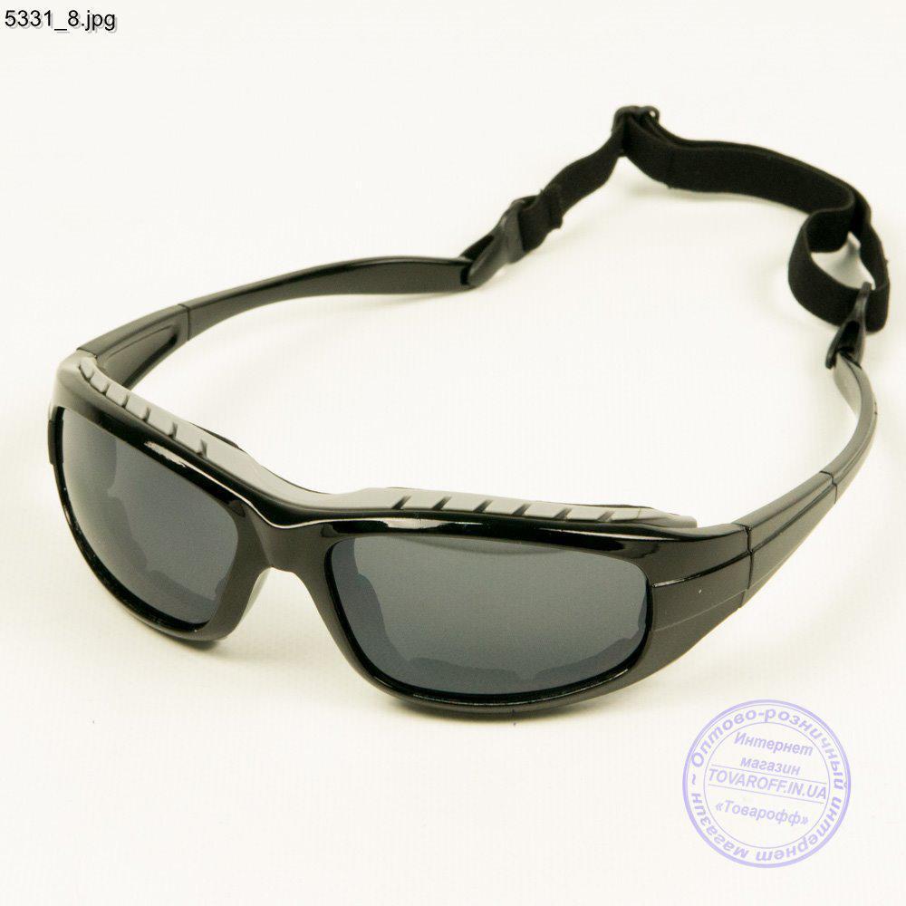 Оптом очки спортивные велосипедные - Черный с черными линзами - 5331/2