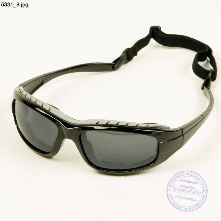Оптом очки спортивные велосипедные - Черный с черными линзами - 5331/2, фото 2