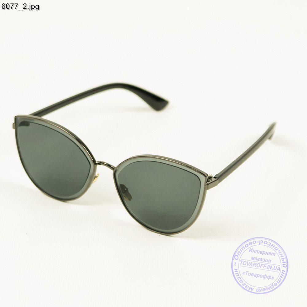 Оптом якісні жіночі сонцезахисні окуляри - Чорні - 6077