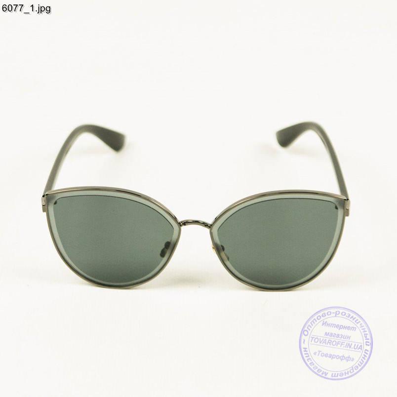 Оптом якісні жіночі сонцезахисні окуляри - Чорні - 6077, фото 2