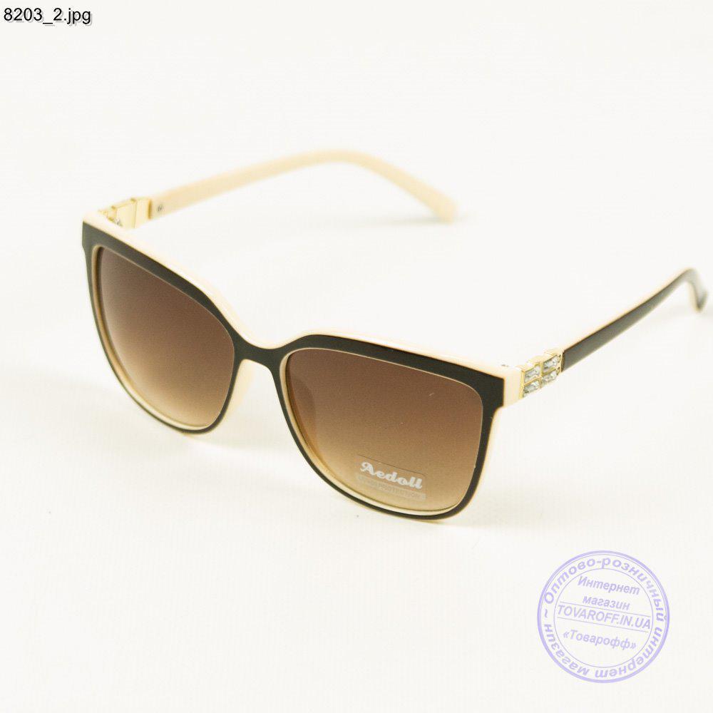 Жіночі Оптом сонячні окуляри бежеві - 8203