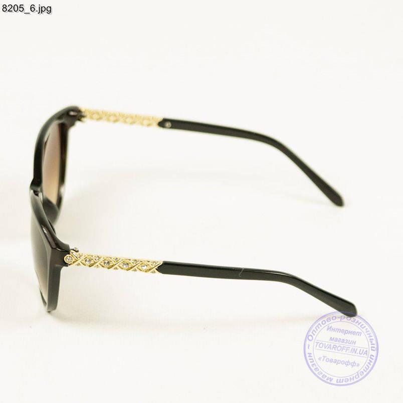 Оптом женские солнцезащитные очки Aedoll - коричневый - 8205/1, фото 2