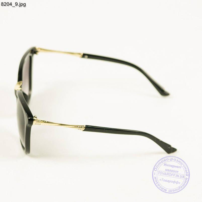 Оптом сонцезахисні окуляри жіночі Aedoll - Чорні - 8204/2, фото 2