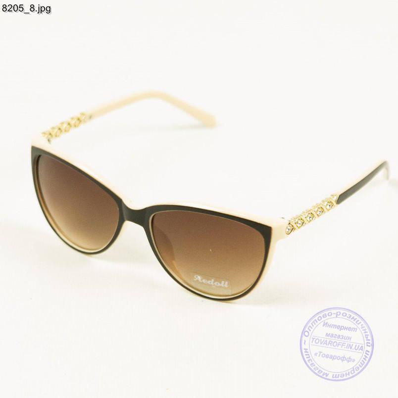 Жіночі сонцезахисні окуляри Оптом Aedoll - Бежеві - 8205/2, фото 2