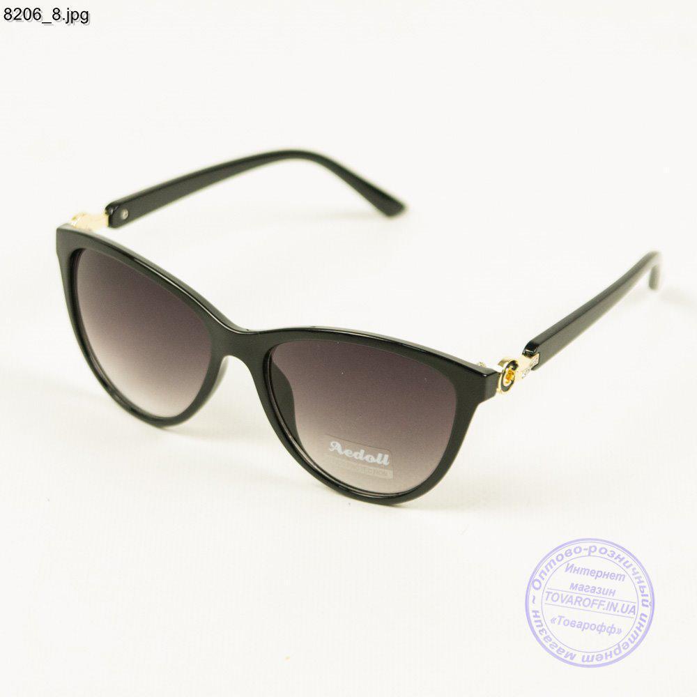 Оптом женские солнцезащитные очки Aedoll - Черные - 8206/2