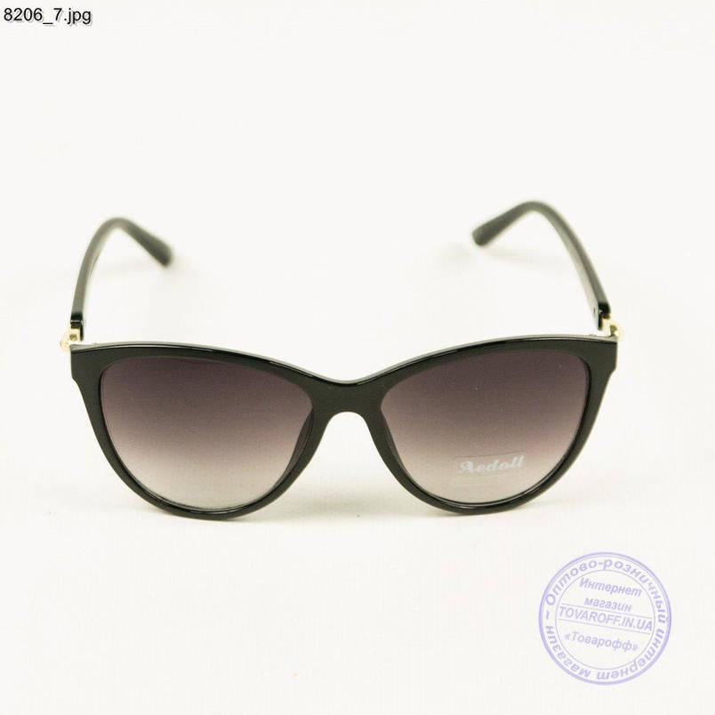 Оптом женские солнцезащитные очки Aedoll - Черные - 8206/2, фото 2