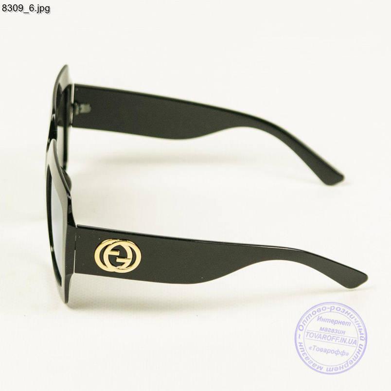 Жіночі Оптом дзеркальні сонцезахисні окуляри - Чорні - 8309/1, фото 2