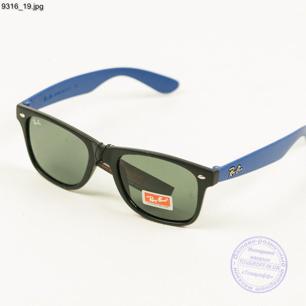 Оптом солнцезащитные очки Ray-Ban Wayfarer унисекс со стеклянной линзой - 9316/3