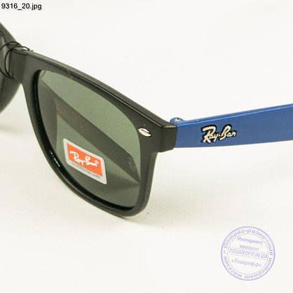 Оптом солнцезащитные очки Ray-Ban Wayfarer унисекс со стеклянной линзой - 9316/3, фото 3
