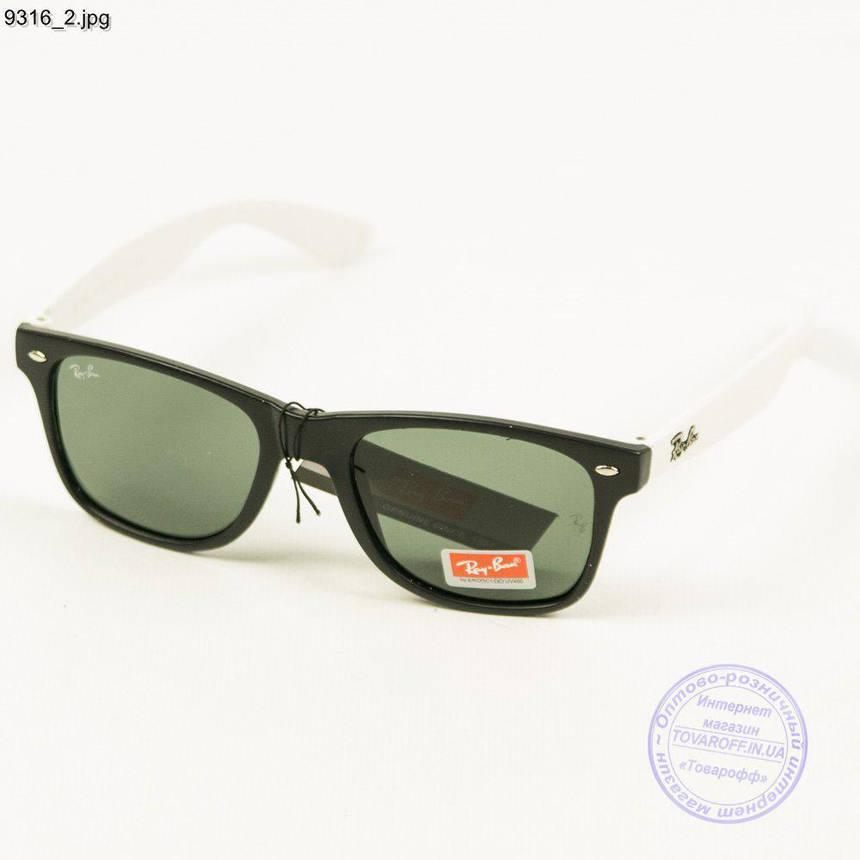 Оптом сонцезахисні окуляри Ray-Ban Wayfarer унісекс зі скляною лінзою - 9316, фото 2