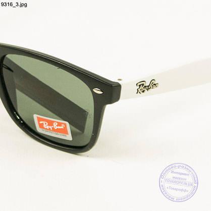 Оптом сонцезахисні окуляри Ray-Ban Wayfarer унісекс зі скляною лінзою - 9316, фото 3