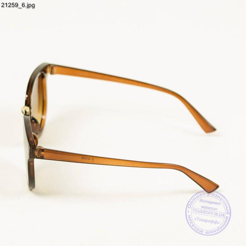 Оптом молодежные солнцезащитные очки - Коричневые с коричневой линзой - 21259/1, фото 2